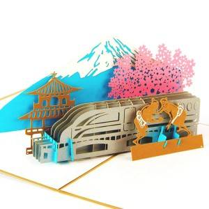 Fujiyama Laser Pop up Card, Engagement card Gift