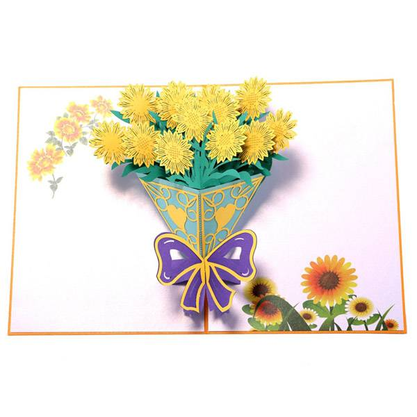 One of Hottest for Lovepop - Personalized Sunflower Bouquet  Pop Up Cards – Jiujv Featured Image
