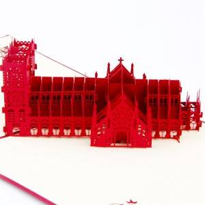 Westminster CathedralCoron Church 3D pop up greeting card for business laser cutting machine