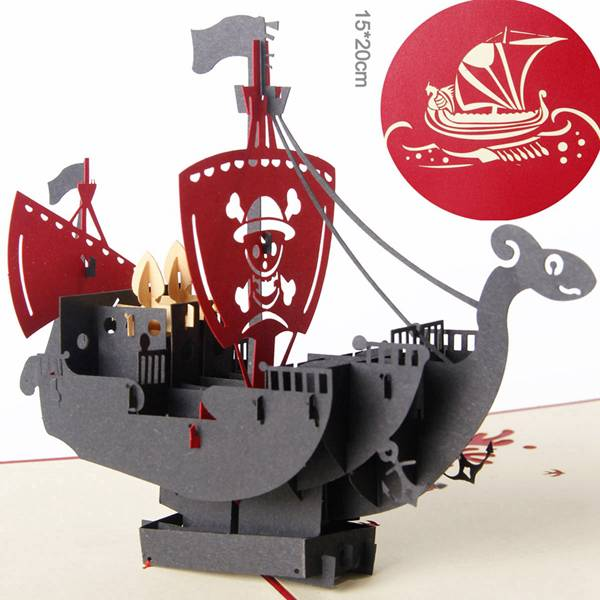 PriceList for Laser Cut Wedding Invitation Card -  Paper Spiritz 3D pop up sailboat Pirategreeting card laser cut postcard handmade kirigami creative gifts – Jiujv