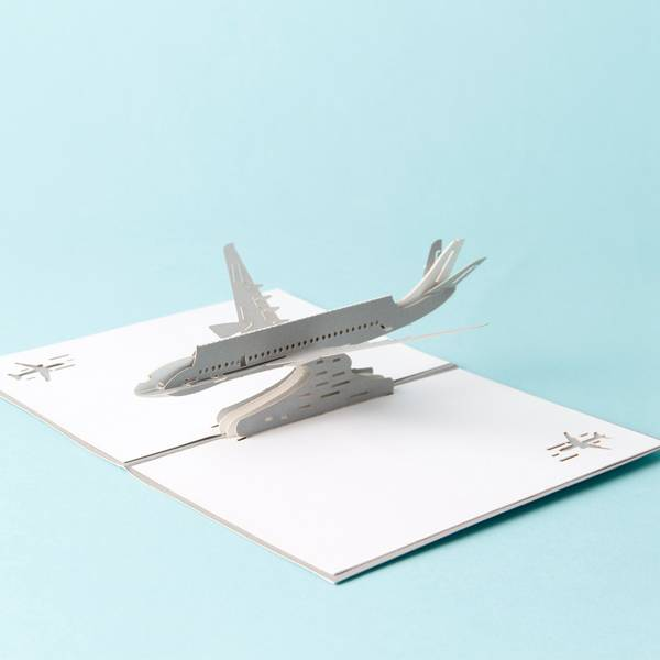Bottom price Invitation - 3D Airplane design pop up cards creative birthday gift cards vintage postcard – Jiujv