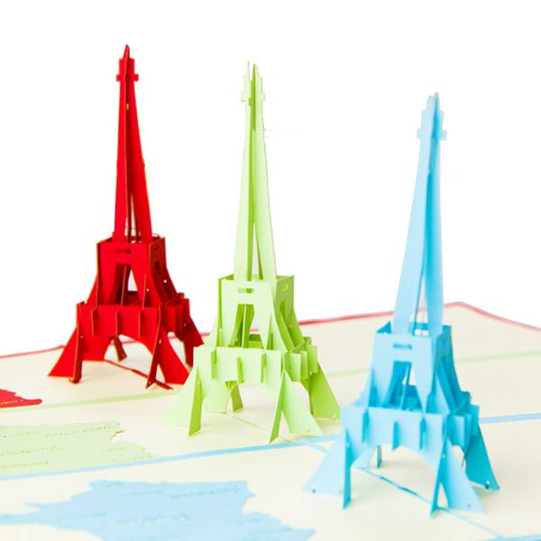 High Performance3d Card Making - Eiffel Tower card papercuting origami gift card – Jiujv Featured Image