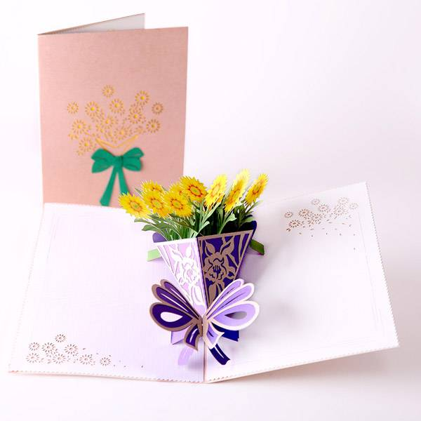 Manufacturer for Graduation Cards - Sun Flower Flower Greeting Cards for saying Thank you or Sorry, as an Invitation for your event  – Jiujv
