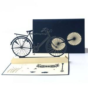 Custom Bicycle Design 3d Greeting Gift Card