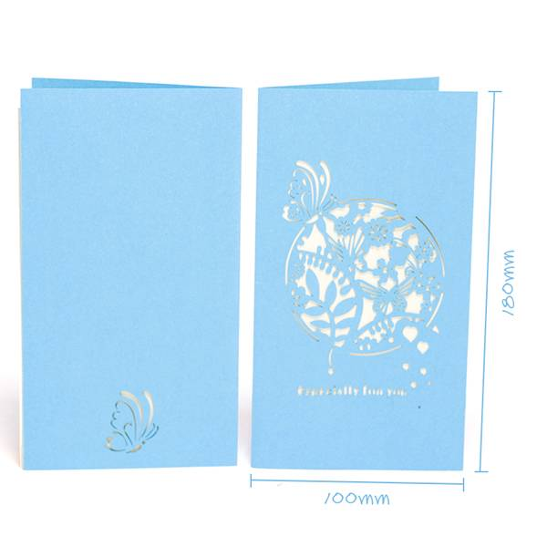 China Gold Supplier for Handmake Pop Up Christmas Cards - Secret Garden Blank Wedding Thank You Cards – Jiujv Featured Image
