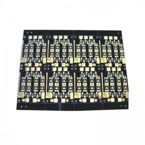 4 Layer Black Blue Soldermask Electronic PCB