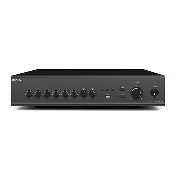 Good Wholesale Vendors In-Wall Music Amplifier - MA260 60W 2 zones mixer amplifier with USB/3MIC/3AUX – Q&S
