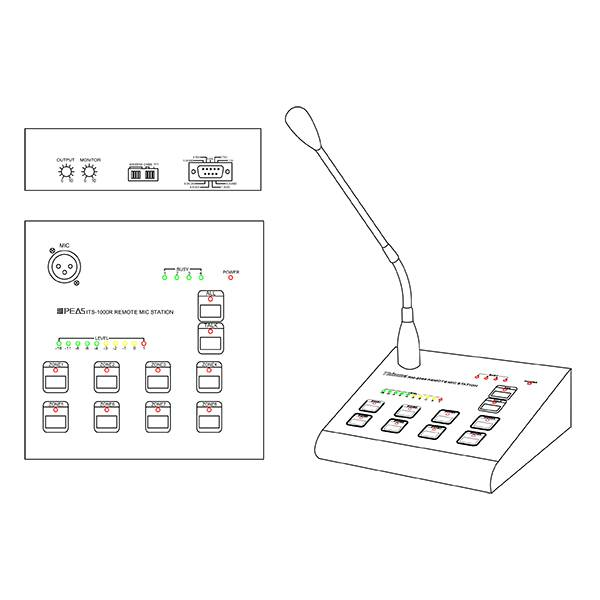 Wholesale Price China Mounted Audio Terminal - ITS-1000R Remote MIC Station – Q&S detail pictures