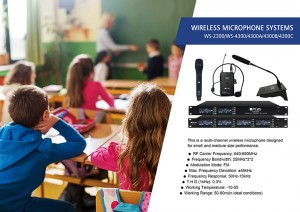 Multi-Kanal Wireless mikrofonu Sistema