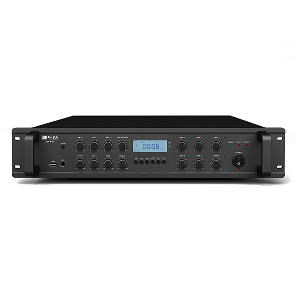 High Performance Rock Speaker - MA660 60W 6 zones mixer amplifier with USB/FM/4MIC/3AUX – Q&S