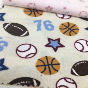 reactive printed flannel fabric