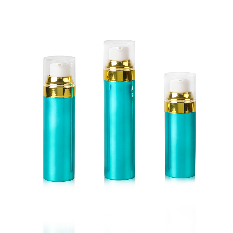 China OEM Small Lotion Bottle - 30ml Plastic PP Airless Bottle with UV Gold Pump Head – Longway detail pictures