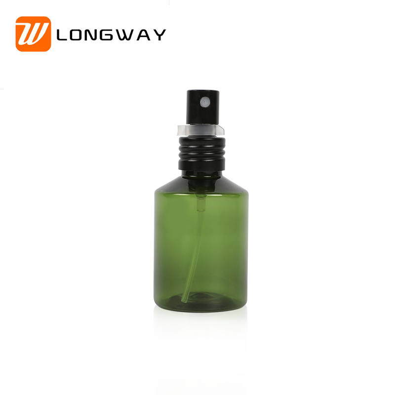 Manufacturing Companies for 1000ml Pet Bottle - 50ml dark green empty spray pump head pet plastic cosmetic bottle with black spray for perfume – Longway detail pictures