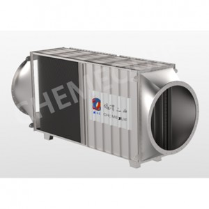 High Efficiency Off -gas Heat Exchanger Made by Pillow Plates