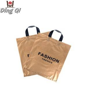 Custom logo printed handle shopping bag