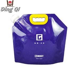5L flexible liquid packaging bag with spout