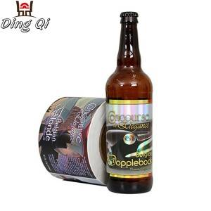 Hot sale self adhesive custom beer bottle labels