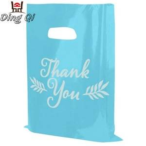 Customized high quality plastic shopping bag for clothes