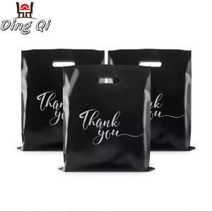 Wholesale custom printing die cut plastic shopping bag