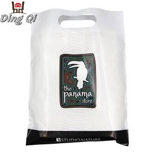 High quality die cut handle plastic shopping bag