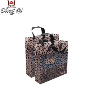 Plastic shopping carry bag with handle