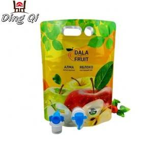 Custom fruit juice aluminum foil liquid spout pouch