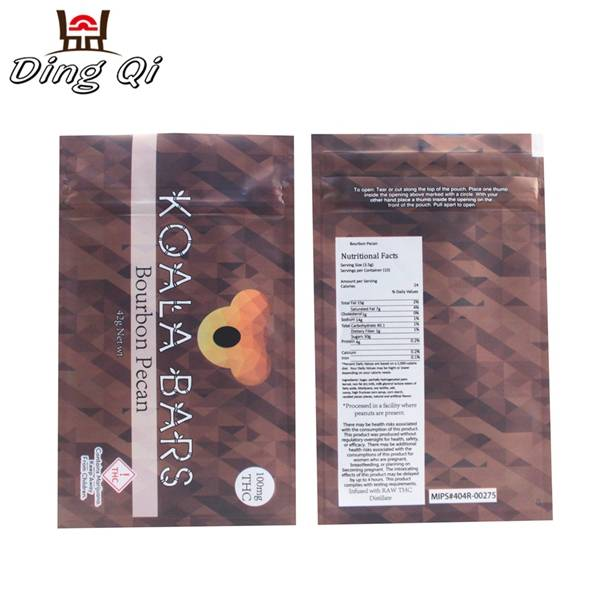 Food grade moisture proof child proof mylar bag packaging