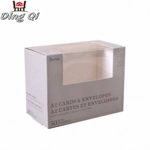 Custom storage paper cardboard gift packaging boxes with window for cosmetics