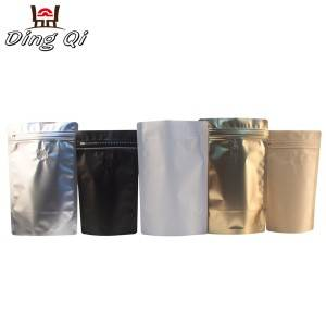 Stock stand up foil coffee pouch 250g 500g 1kg