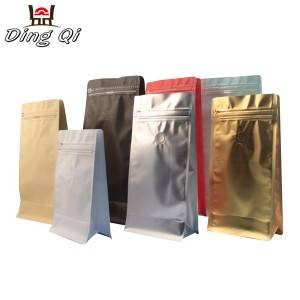 Stock box bottom coffee bean pouch 250g 500g 1kg