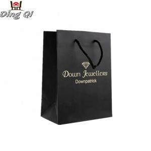 Luxury colorful hot sale high end black clothing packaging shopping christmas gift paper bag