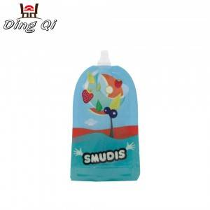 Custom print reusable baby food storage squeeze pouch food grade liquid packaging bag