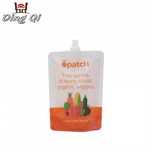 Custom printed 100ml 150ml 250ml stand up plastic  juice liquid storage bags with spout