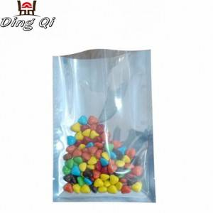 Stock foil three side seal plastic vacuum bags with window