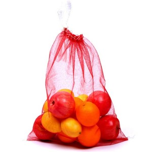 Reusable Drawstring Fruit Mesh qese