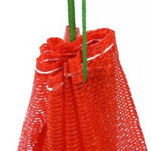 Red Onion Potato PP Mesh Bag with drawstring