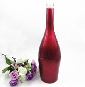 Electroplate Glass Wine Bottles For Champagne