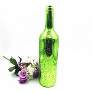 Electroplated Colorful glass Bordeaux wine bottles