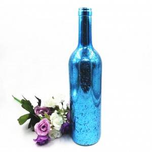750ml electroplating glass Bordeaux bottle