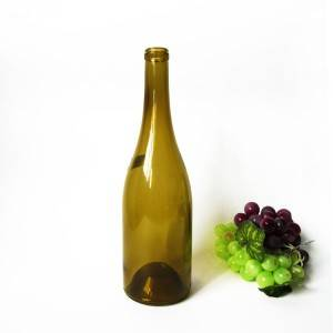 Burgundy Glasss Wine Bottle