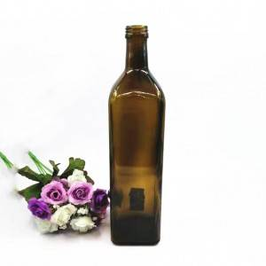 1000ml brown glass olive oil bottle