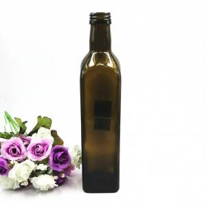 500ml Amber glass olive oil bottle