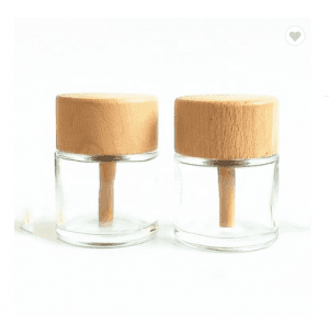 50ml round oil reed diffuser perfume glass bottle non-fire aromatherapy
