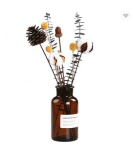 Amber color glass reed diffuser bottle