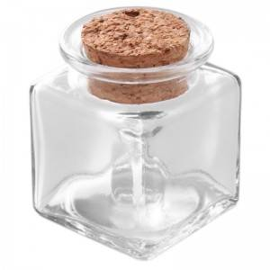 Glass storage jar with cork top