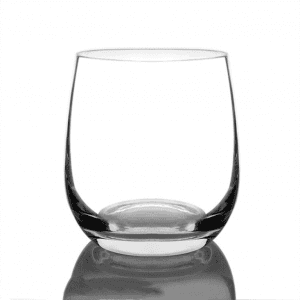 Egg-shaped glass cup