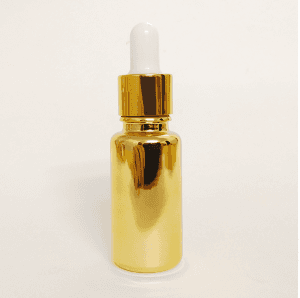 Electroplating glass essential oil bottle