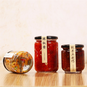 custom made clear round glass jar with screw metal lid wholesale 100ml 195ml 240ml 350ml 500ml