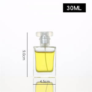 30ml 50ml 100ml empty clear glass perfume bottle with pump sprayer