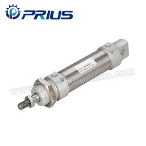 Round Stainless Steel Mini Air Cylinder CRDSW Type With Bore 32 – 63mm